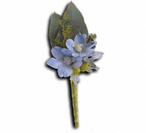 Hero's Blue Boutonniere