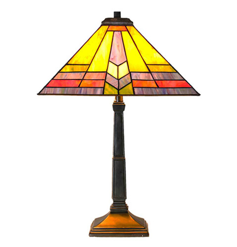 Stained Glass Southwestern Sunrise Table Lamp