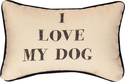 I love My Dog Pillow