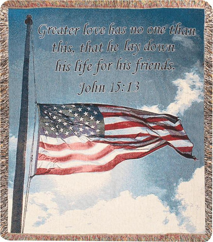 A Salute to Our Soldiers Memory Throw Blanket