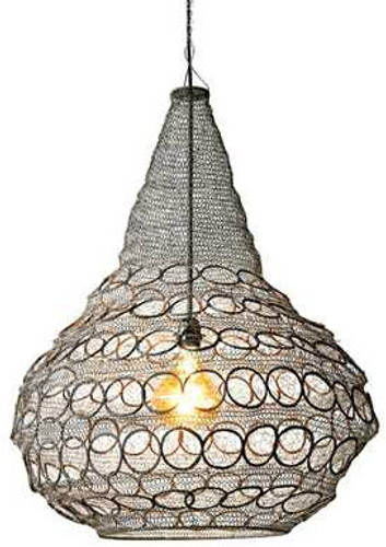 Large Iron Woven Chandelier
