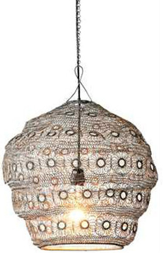 Small Iron Woven Chandelier