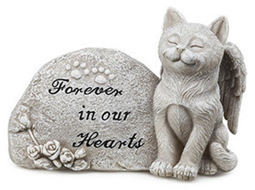 Memorial Plaque with Cat