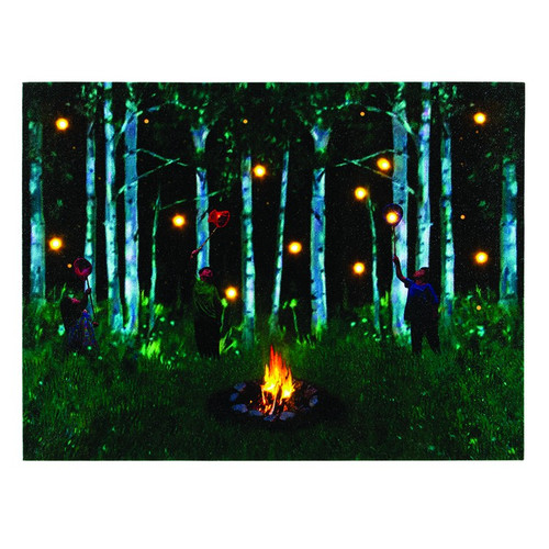 Lighted Catching Fireflies Woods Canvas with Timer