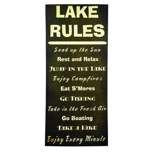 Large Lake House Rules Canvas