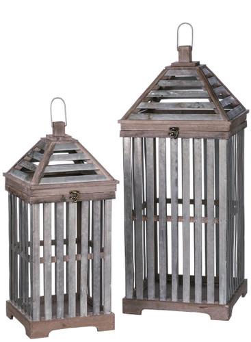 Crate Lantern Set of 2