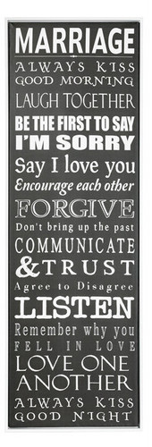 Rules of the Marriage Wall Decor