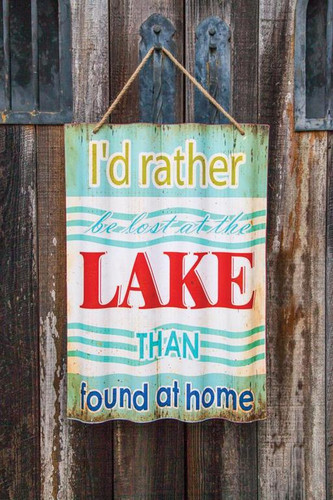 CORRUGATED LAKE SIGN