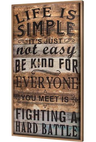 LIFE IS SIMPLE WORD
