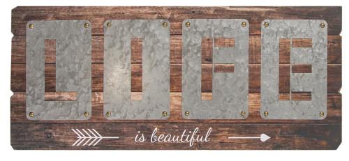 LIFE IS BEAUTIFUL CUTOUT SIGN