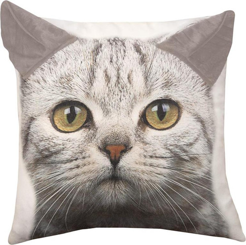3D CAT PILLOW 18""