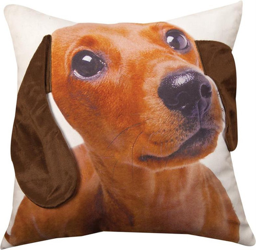 3D DAUCHSUND PILLOW 18""