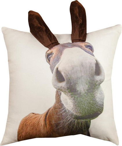 3D DONKEY PILLOW 18""