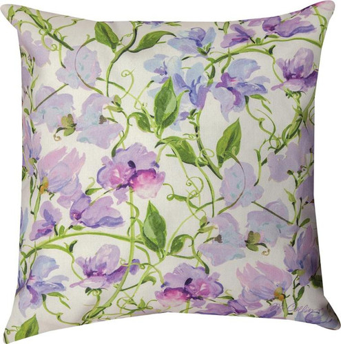 SWEET PEA FLORAL PILLOW