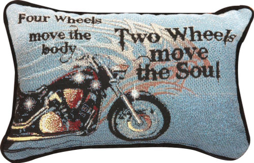 FOUR WHEELS MOVE THE BODY...  PILLOW