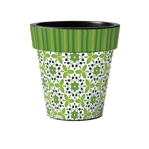 "Green Petal 15"" Art Planter"