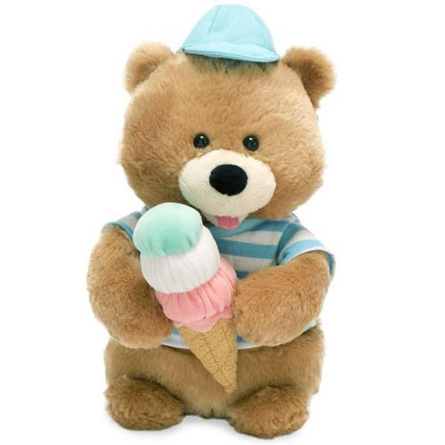 Singing Ice Cream Bear Cuddle Barn Plush