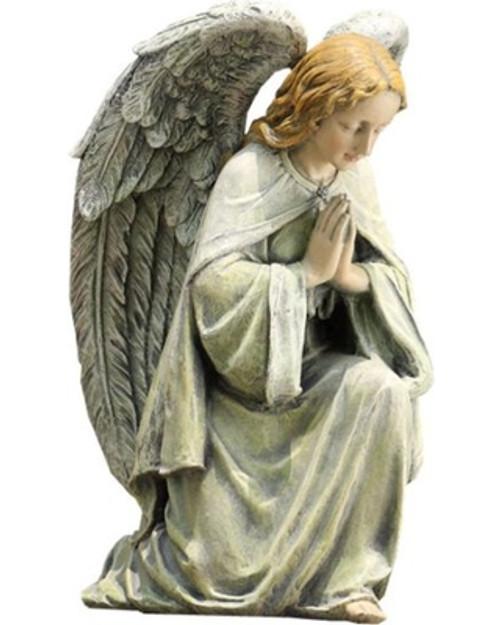 angel garden statue. kneeling angel garden statue