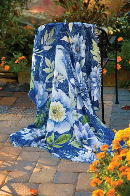 SPRING MIX  FLORAL THROW