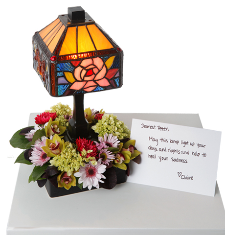 sympathy memory lamp