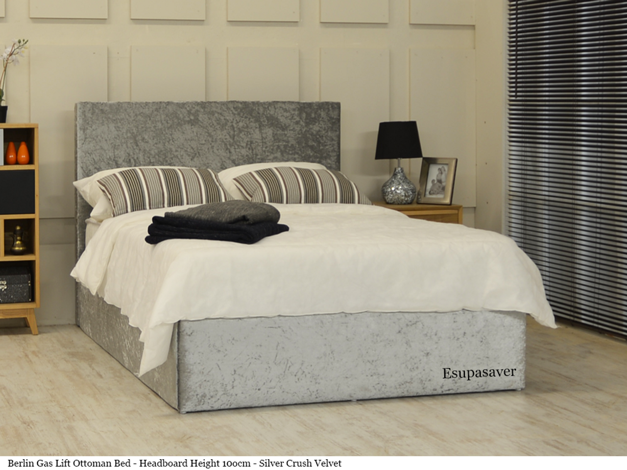 Berlin Gas Lift Ottoman Storage Bed Frame Available In