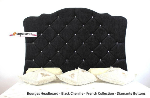 Bourges Wall Fixing Headboard. Available in Crush Velvet, Chenille, Linen or Faux Suede Fabrics