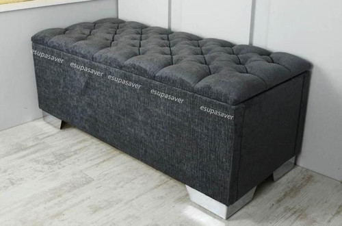 Chelsea Ottoman. Available in Crush Velvet, Chenille, Linen or Faux Suede Fabrics