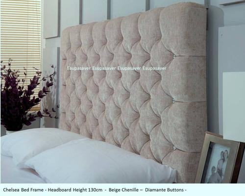 Chelsea Bed Frame Available In Crush Velvet Chenille