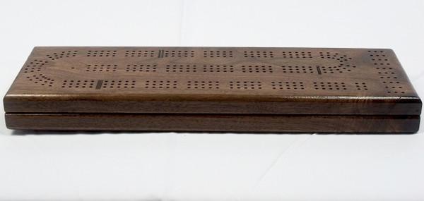 Walnut 3 Player Cribbage board