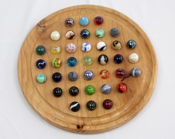 Large Round Marble Solitaire - Alder