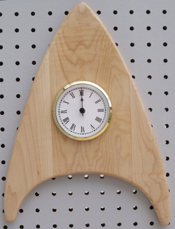 Curly Maple Wedge Clock Wall clock