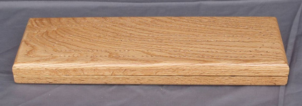 Red Oak 2 Player Cribbage Board