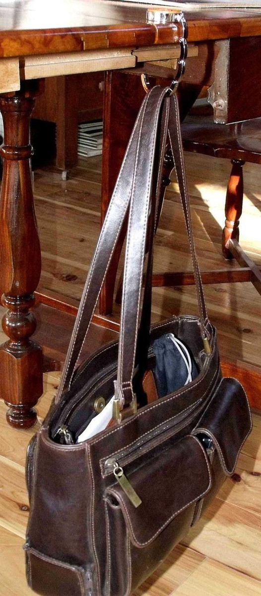 Collapsible Purse Hook Horse Tan