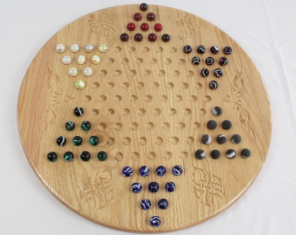 Deluxe Target Marble Chinese Checkers in Oak