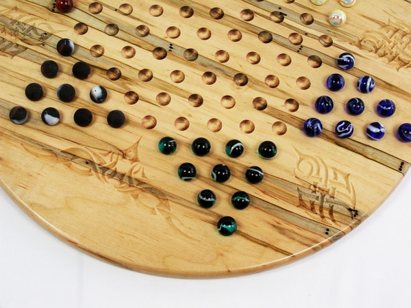 Deluxe Target Marble Chinese Checkers in Ambrosia Maple