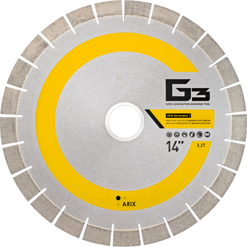 Arix g3 supreme yellow silent core bridge saw blades kobi tools arix g3 supreme yellow silent core bridge saw blades greentooth Images