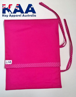 Pink Knife Roll 6 Pocket