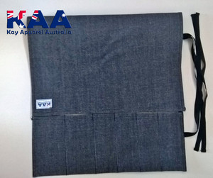 Blue Denim Knife Roll 6 Pocket