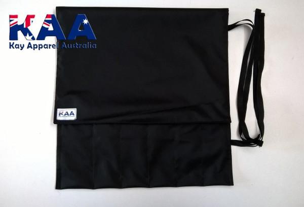 Black Water Resistant Knife Roll 6 Pocket