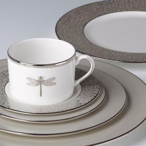 Lenox Kate Spade June Lane Platinum Dinnerware 57p Set for 8 New & DINNERWARE SETS - Kate Spade - Centuryimports2010