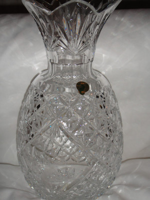 Waterford Crystal Cased Crystal Amy 14 Lime Bouquet Vase