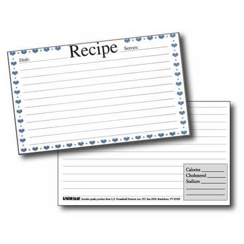 Labeleze Recipe Card Dividers 3 X 5 Rooster Gyftzz Com