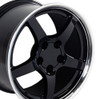 "17"" Fits Chevrolet - Corvette C5 Wheel - Black 17x9.5"