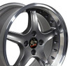 "17"" Fits Ford - Mustang 4-Lug Cobra R Wheel - Anthracite 17x9"