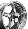 "17"" Fits Mustang® Cobra R 4 Lug Deep Dish Wheel Chrome / Rivets 17x9"