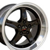 "17"" Fits Ford - Mustang Cobra R Wheel - Black 17x10.5"