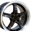 "17"" Fits Ford - Mustang Cobra R Wheel - Black 17x9"