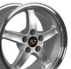"""17"""" Fits Ford - Mustang Cobra R Wheel - Silver 17x9"""