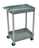 Gray Tub Cart 2 Shelves