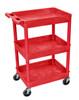 3 Shelf Red Tub Cart
